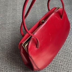 Vintage Margolin Red Leather Bag